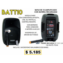 Bafles Potenciado 10 12 15 Con Batería Recargable