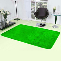 Tapete Verde Em Pelúcia Para Sala Quarto Liso 2m X 1,40m