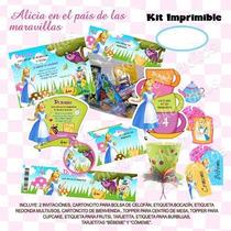 Kit Imprimible Alicia Mesa De Dulces Postre Candy Bar