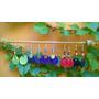Aros Tejidos Al Crochet Artesanales, Diferentes Colores