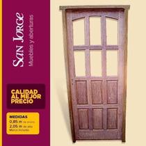 Puerta De Madera De Algarrobo - San Jorge, Muebles Y Abertur