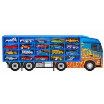 Caminhão Porta 20 Carrinhos Hot Wheels Madeira