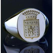 Anel Sinete Brassão De Família !personalizado!!prata E Ouro!