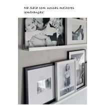 Prateleira Para Expor Fotos E Quadros 90cm - Frete Grátis