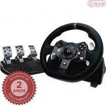 Pedal E Volante Driving Force Logitech G920 Preto + Garantia