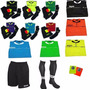 Conjunto Referee Camiseta+short+medias+tarjeta Todoarbitros
