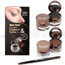 Eyebrow & Eye Liner Delineador E Sombra De Olhos 2 Em 1 24 H