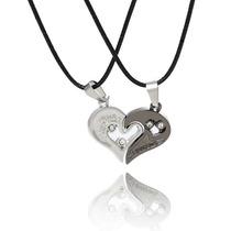 Collar Corazón Partido Regalo Amor Novios Pareja Enamorados