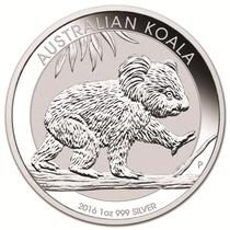 Australia 2016 Koala 1 Onza Plata Pura .999 Con Cápsula
