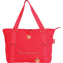 Bolsa Shopping Bag/tote Capricho Love Vii Red C/ziper Unid