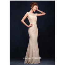 Vestido Longo Em Renda Madrinha Casamento Formatura #vl3