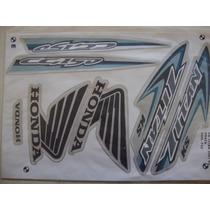 Jogo De Faixas Adesivo Honda Titan 150 Ks Prata Ano 2007