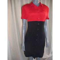 Vestido Talla 6 Design By Pat Argenti Color Rojo Y Negro