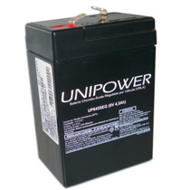Bateria Selada Recarregável Chumbo Ácido Unipower Up 6v 4.5a