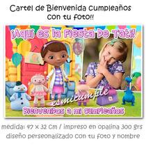 Doctora Juguetes Cartel De Bienvenida Cumpleaños Con Tu Foto