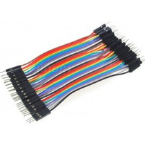 Cable Jumper Macho Macho De Colores 20cm Protoboard Circuito