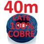 Cabo Rede Cat6 100% Cobre Azul 40m Internet Net Lan Montado