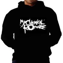 Blusa Moletom My Chemical Romnce Bolso Capuz Banda Moleton
