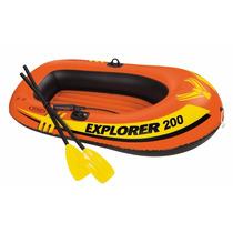 Bote Intex Explorer 200 + 2 Remo + Bomba Infladora / Mayor