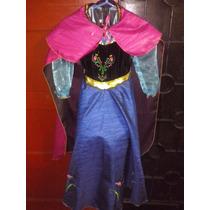 Disfraz Disfraces Anna Ana Frozen Niñas Halloween Peluca