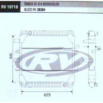 Radiador Mercedes 914l Intercoler / 710 Plus Caminhão/onibus