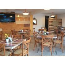 Mesa Con 4 Sillas Madera Restaurantes Cafeterias, Bares