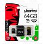 Memoria Kingston Micro Sdxc 64gb Clase 10 Tarjeta Memory Usb