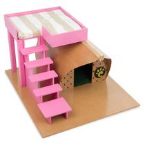 Casinha De Cachorros Pequeno Porte Farm Rosa 7033 Carlu