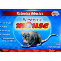 Ratoeira Adesiva Cola Western - Visgo Pega Rato Barata Mosca