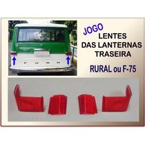 Lente Lanterna Traseira Rural Ou F-75 60 À 82 Vermel Jogo