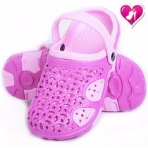 Ojota Zuecos De Goma Para Niñas Modelo Playa De Shoes Bayres