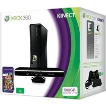 X Box 360 500gb 1 Controle, 2 Jogos E Kinect Novo Original