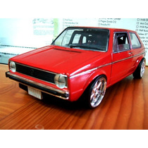 1977 Vw Golf Mki Ls Red Modificacion Rines 1/18 Vitesse