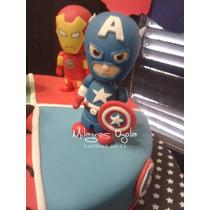 Avengers-vengadores- Capitan America- Adorno Torta- P Fria