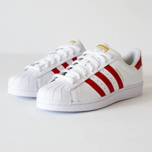 adidas superstar blancas con rojo