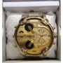 Relógio Diesel 4 Máquinas Dourado Dz7313 57mm