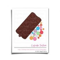 Molde De Silicón Para Chocolate Botones Fondant #1647