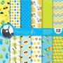 Kit Imprimible Pack Fondos Verano Sol Playa Clipart