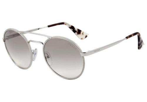 fbf5d4f1c Prada Pr 51ss - Óculos De Sol Ufh 4o0 Creme E Prata Brilho/ - R$ 883,15 em  Mercado Livre