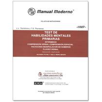 Hmp Test De Habilidades Mentales Primarias Manual Moderno