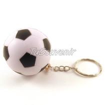 Llavero Pelota De Futbol Blanca Y Negra X 10 U Varones Nenes