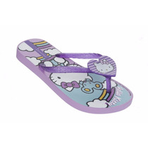 Chinelo Infantil Feminino Ipanema Hello Kitty Lilas