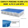 Capa Piscina Retangular 10.000 Litros Premium Mor 4,70x3,00