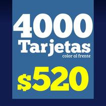 4000 Tarjetas De Presentación, Frente A Color