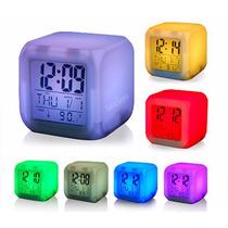 Reloj Arcoiris / Led Despertador Alarma Digital Gora Gora