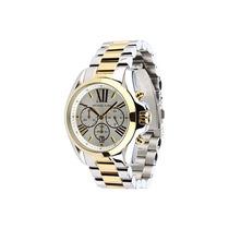 Relógio De Luxo Michael Kors 5627 Prata Dourado Original
