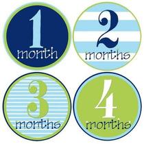 Mumsy Ganso Del Bebé De Pegatinas Mensuales 1-12 Meses