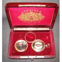 Reloj Longines Oro 14 Kilates De Bolsillo Estuche Original