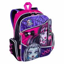 Mochila Infantil Costas Escolar Menina Monster High Tam G