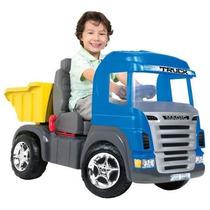 Carro A Pedal Caminhão Truck Azul Magic Toys